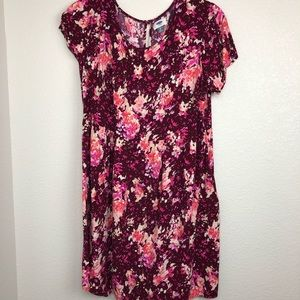 Old navy pink floral tunic dress